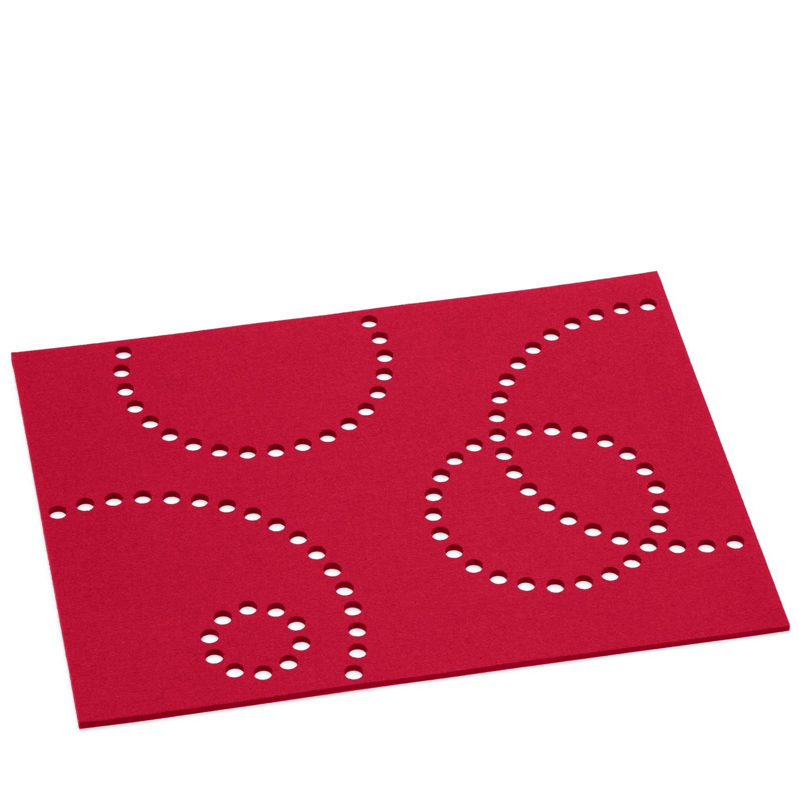 Tischset rechteckig mit lochmuster 8 teilig viele farben for Tischset design