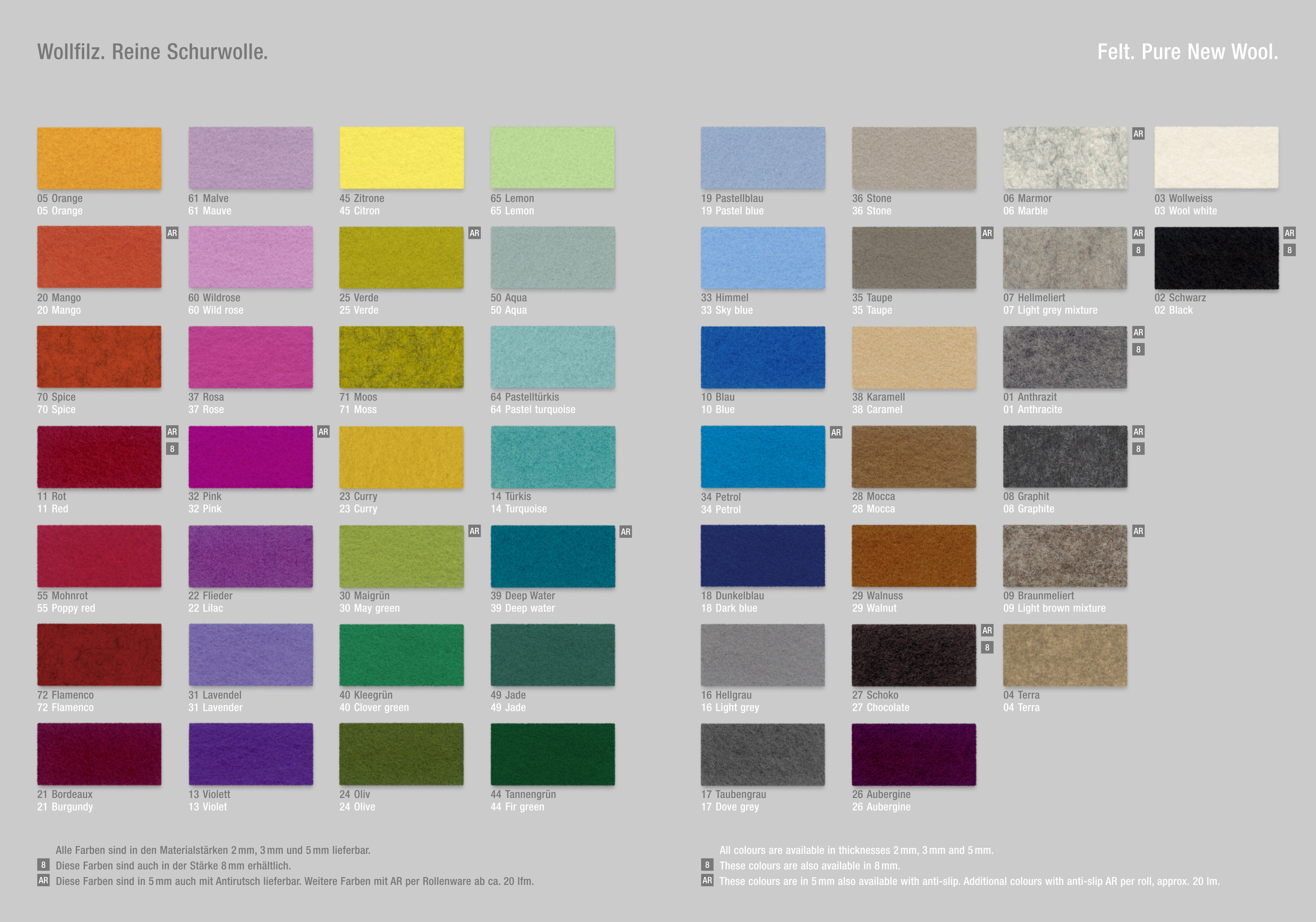 hey sign papierkorb m lleimer aus filz gr e m farbe malve. Black Bedroom Furniture Sets. Home Design Ideas