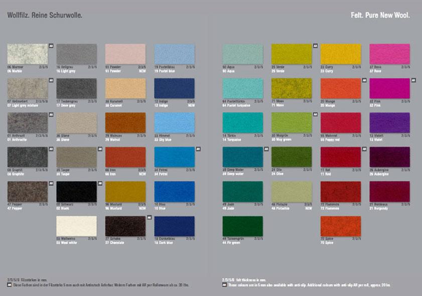 Die Farben - Hey Sign Lindenblätter Filz (60 Stück im Set) Dekoration viele Farben