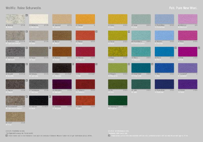 Die Farben - Teppich rechteckig Lochmuster Filz verschiedene Größen + Farben Hey Sign STAMP