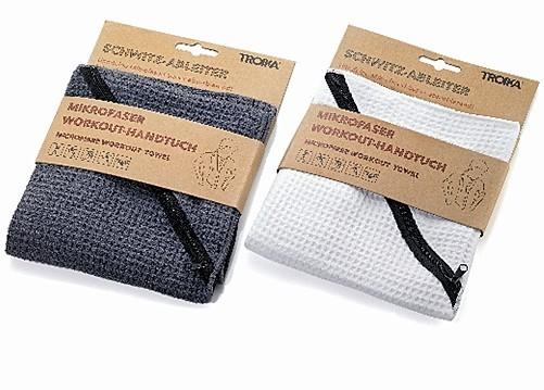 mikrofaser workout handtuch grau troika schwitzableiter. Black Bedroom Furniture Sets. Home Design Ideas