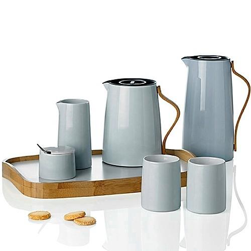 stelton emma kaffeekanne isolierkanne pastellblau buchengriff. Black Bedroom Furniture Sets. Home Design Ideas