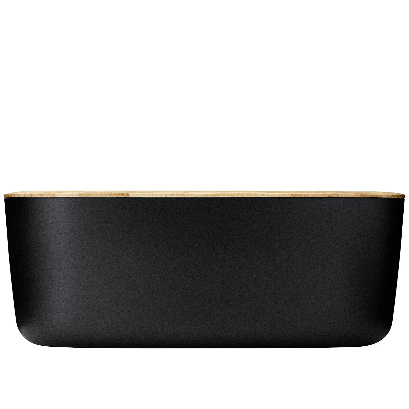stelton by rig tic brotkasten box it mit schneidbrett black. Black Bedroom Furniture Sets. Home Design Ideas