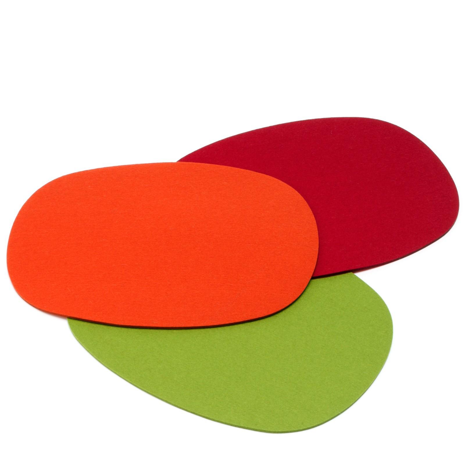 tischset filz 5 mm oval 8 teilig in vielen farben hey sign. Black Bedroom Furniture Sets. Home Design Ideas