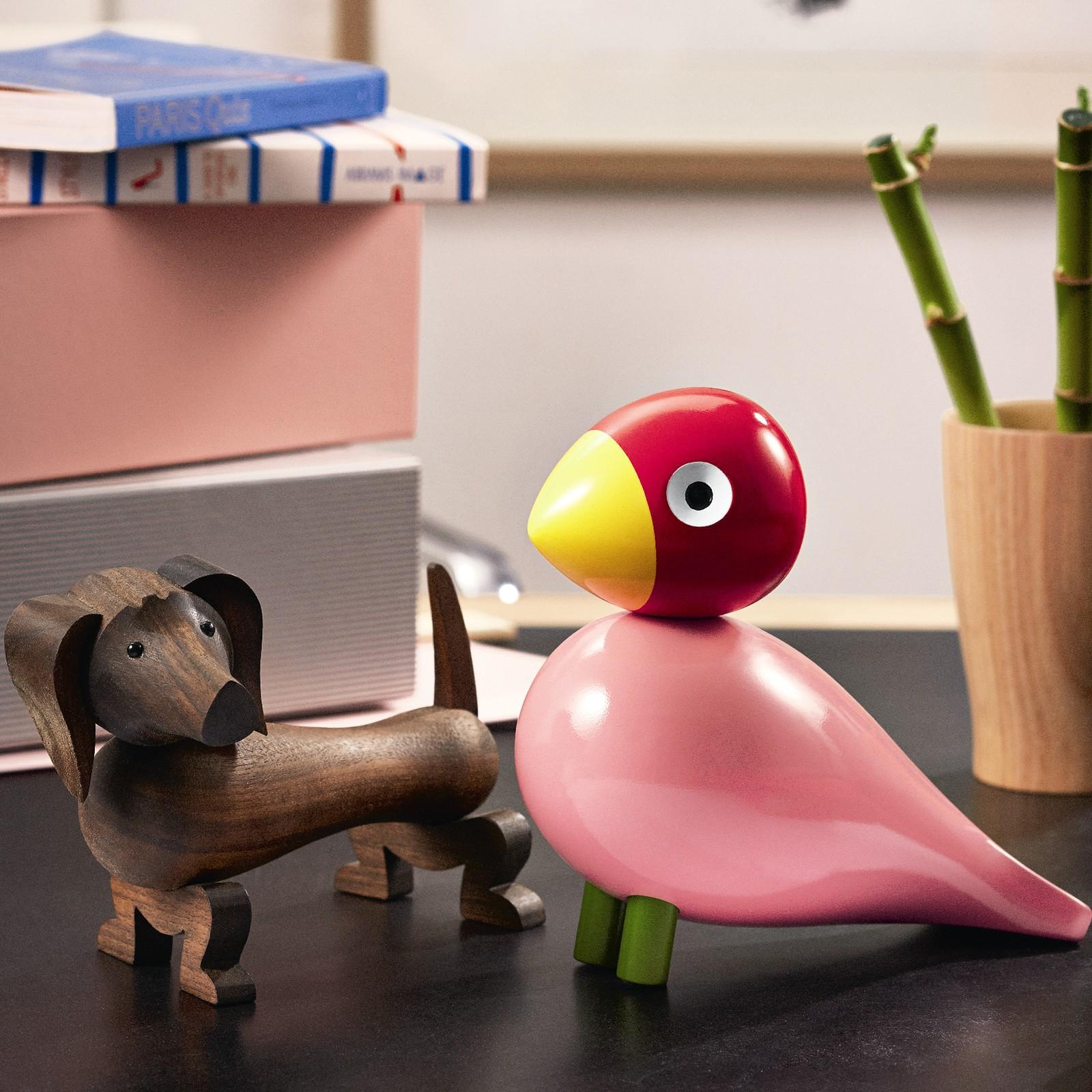 kay bojesen holzfigur singvogel ruth buche lackiert rosa. Black Bedroom Furniture Sets. Home Design Ideas