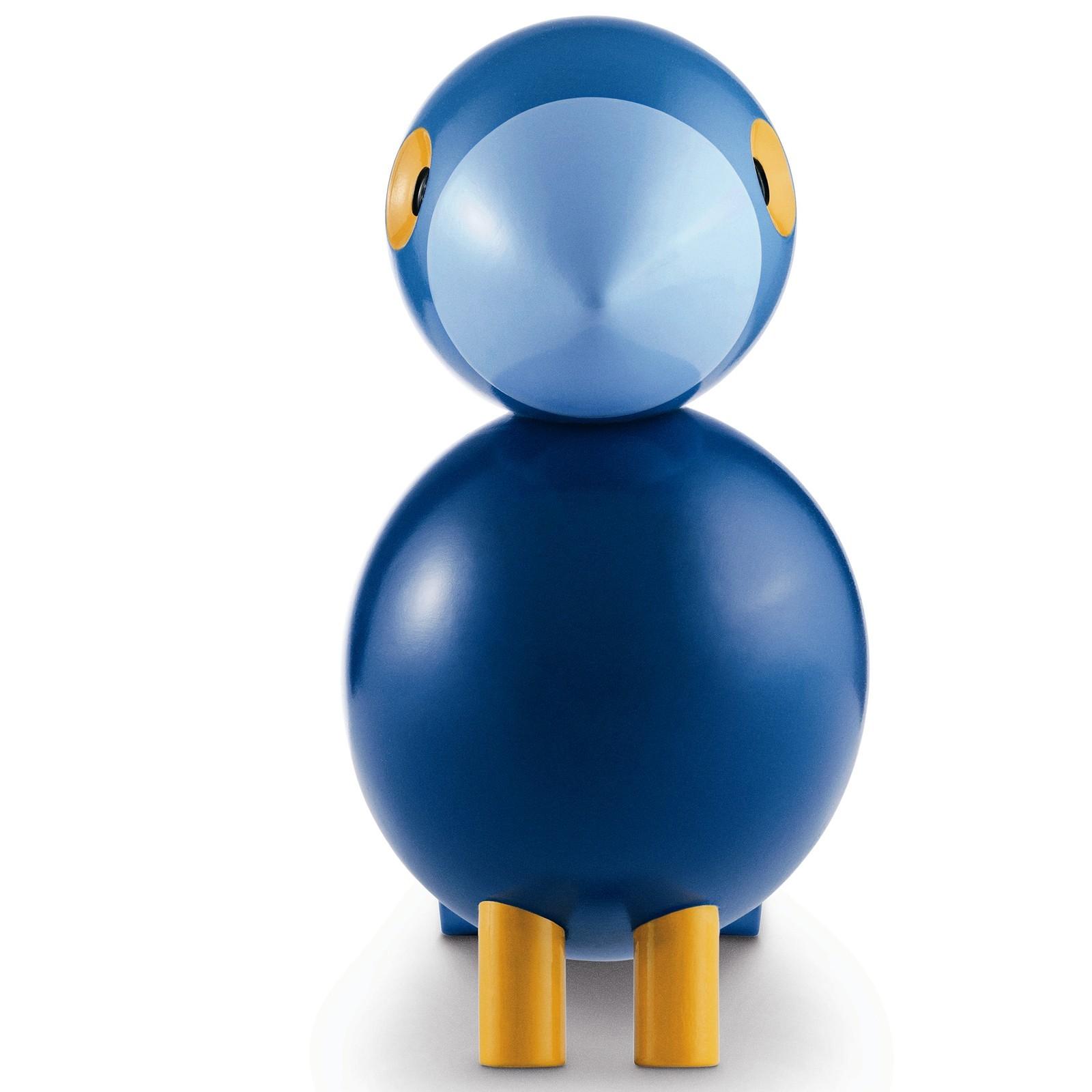 kay bojesen holzfigur singvogel kay buche lackiert blau. Black Bedroom Furniture Sets. Home Design Ideas