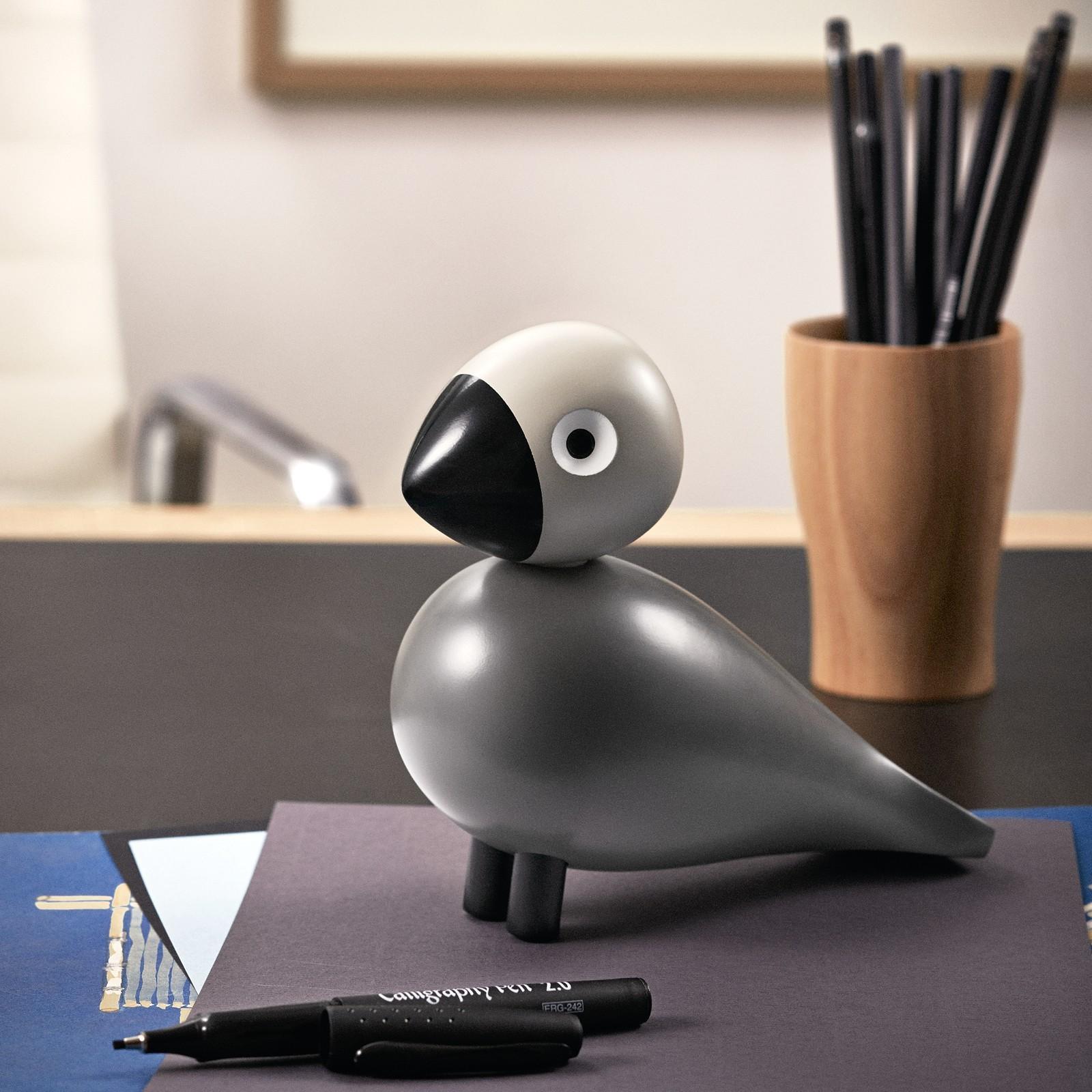 kay bojesen holzfigur singvogel ernst buche lackiert grau. Black Bedroom Furniture Sets. Home Design Ideas