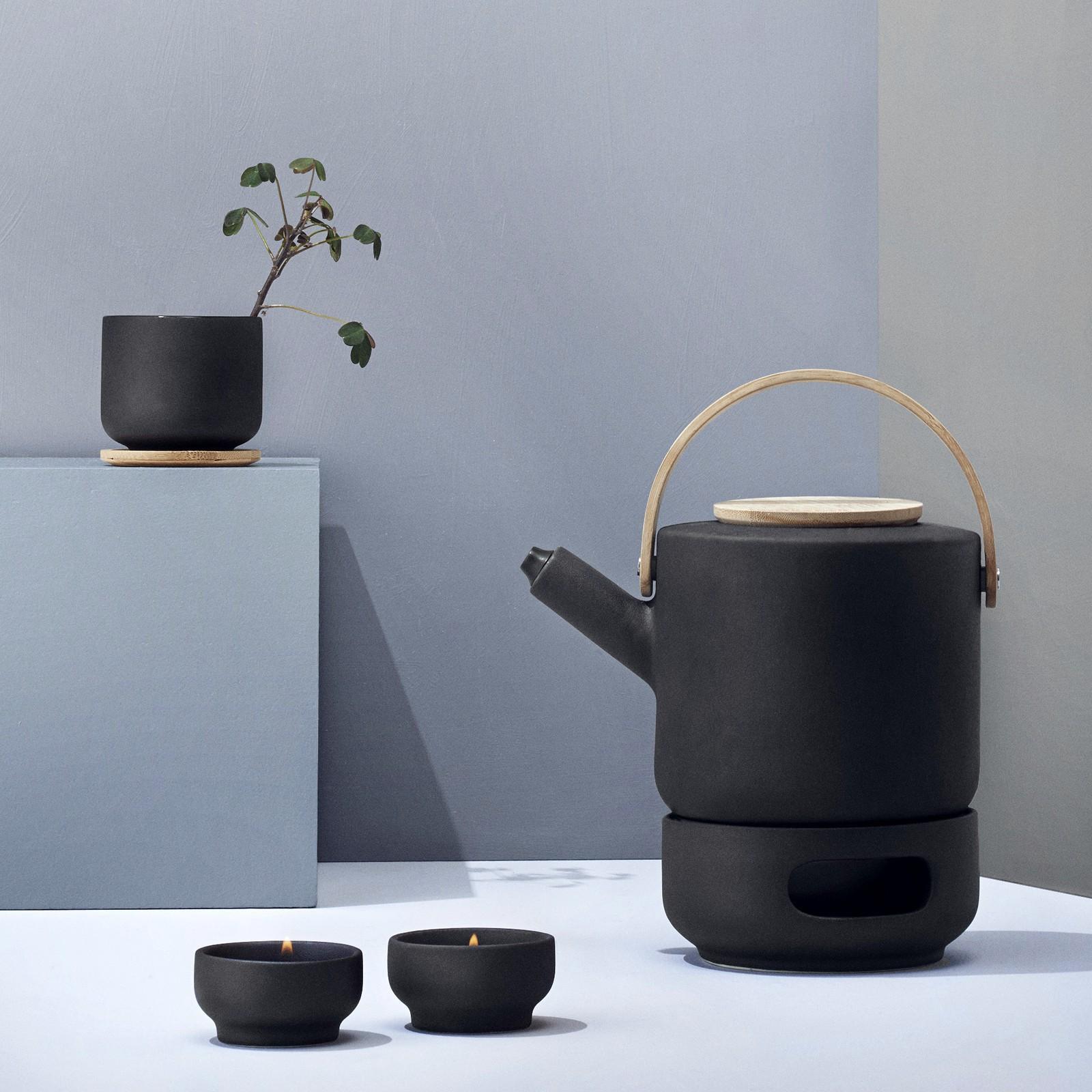 teekanne 1 25 l steingut stelton theo. Black Bedroom Furniture Sets. Home Design Ideas