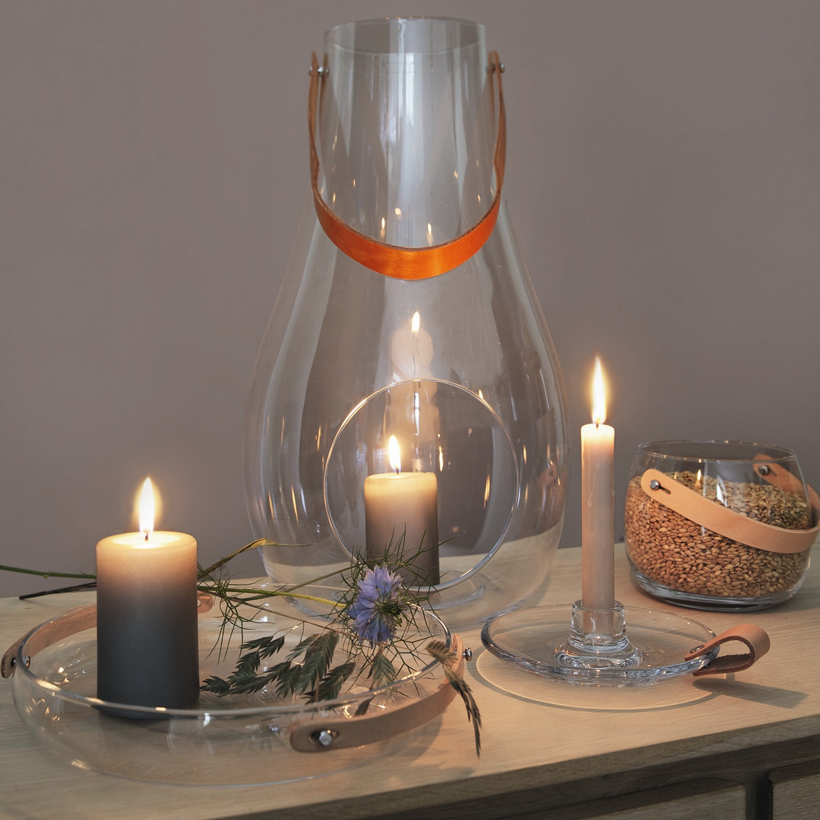 Holmegaard with light kerzenteller glasteller 24 cm for Designing with light