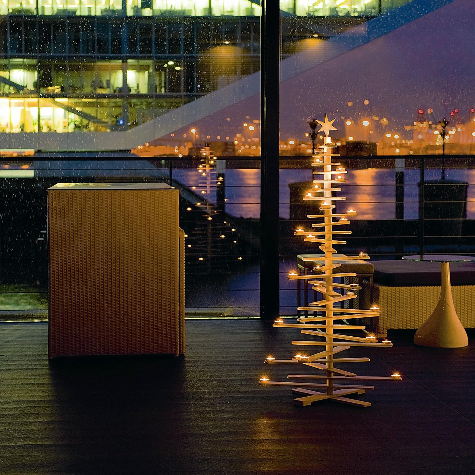 philippi weihnachtsbaum lucia wei lackiert. Black Bedroom Furniture Sets. Home Design Ideas