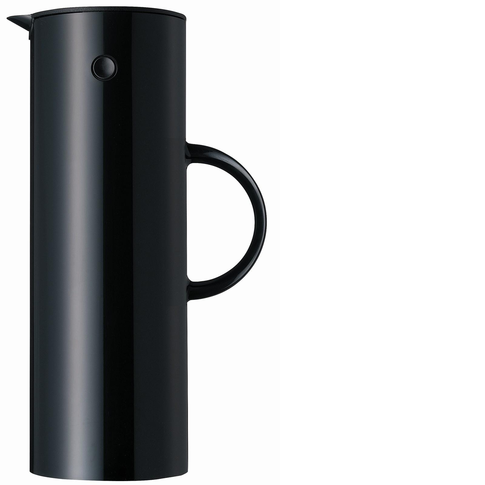 stelton isolierkanne thermoskanne 1 l schwarz. Black Bedroom Furniture Sets. Home Design Ideas
